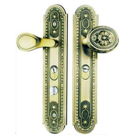 LS06 Classic Style Gold Plated Zinc Main Interior Door Handle