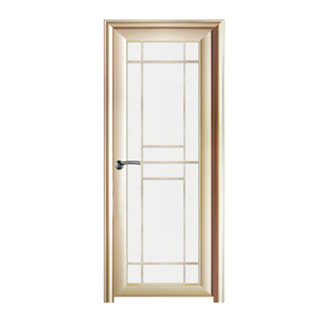 FPL-7003 Latest Design Aluminium Glass Bathroom Door