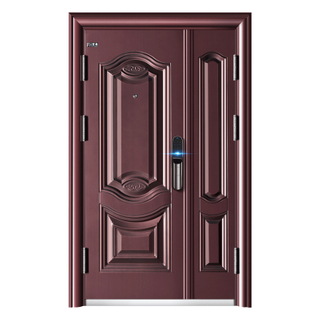 Double Leaf Exterior Front Door Steel Security Door