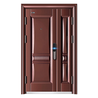Simple Design Double Leaf Steel Security Door
