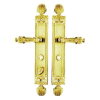 LS07 Gold Plated Zinc European Style Main Interior Door Handle