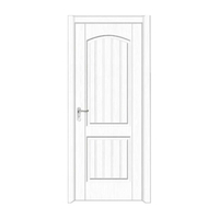 FPL-4003 White Wooden Door Design PVC Wooden Door