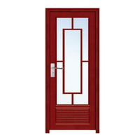 FPL-7005 Red Aluminium Glass Bathroom Door