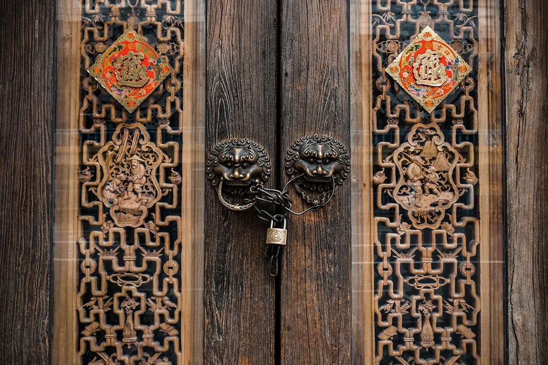 What is the Stuff on Chinese Entrance door?
