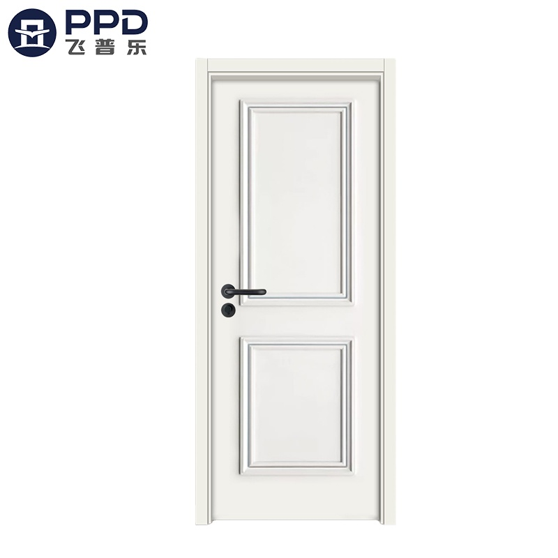 PHIPULO Natural White Modern Wood Interior MDF Melamine Door