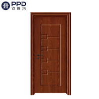 PHIPULO Antique Red Bedroom Interior WPC Wooden Door