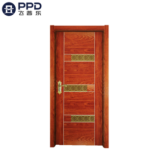 PHIPULO Red Rustic Interior Melamine MDF Wood Door