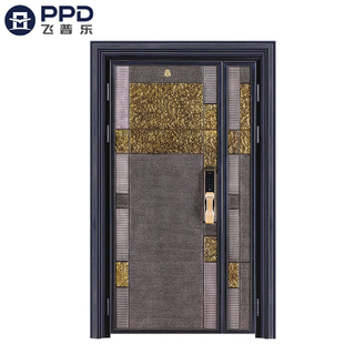 FPL-8010 Inactive Double Leaf Bullet Proof Special Design Aluminium Cast Door