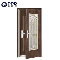Double Secure Golden High Qulity Main Entrance Security Steel Door