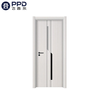 PHIPULO White Plain Wood Interior MDF Melamine Door